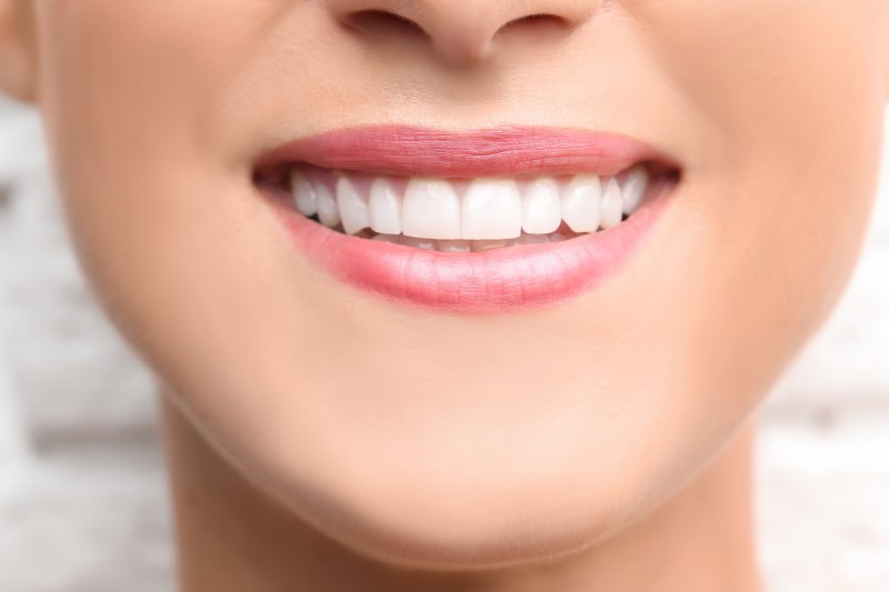 young woman with a bright healthy smile